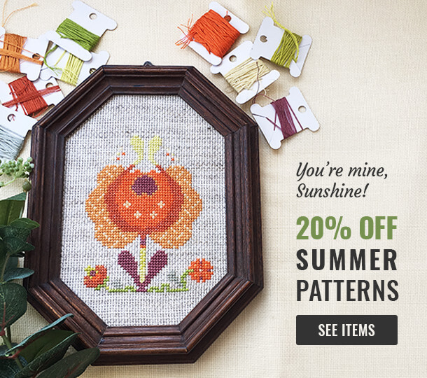 Summer cross stitch patterns on sale