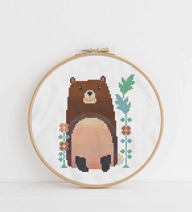 CROSS STITCH CHART BEAR CHART YOU ARE SO SWEET I CAN HARDLY BEAR IT