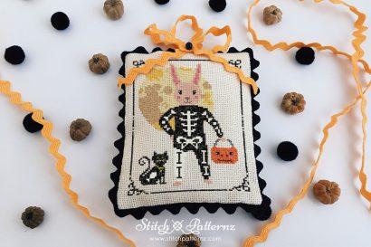 Halloween Skeleton Bunny Boy
